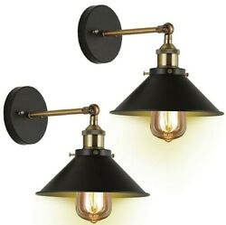 JACKYLED Vntage Black with Bronze Finish Arm Swing Wall Sconce 2 Pack NIB $35.00