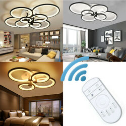 Acrylic Modern LED Chandelier Light For Living Room Bedroom Ceiling Lamp Remote $108.30