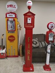 Vintage 1924 Gamewell Fire Alarm Box & Pedestal with Light $5,990.00