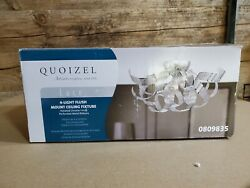 Quoizel Lace 16-in Polished Chrome ModernContemporary Flush Mount Light $39.99