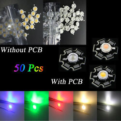 50X Wholesale Lights Beads With Star PCB LED COB Chip High Power 1W SMD Lot
