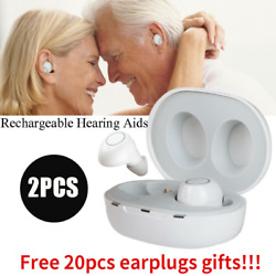 1Pair Invisible Hearing Aids Rechargeable Mini In the Ear Amplifier Voice Assist $49.99