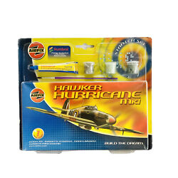 Model Airplane Vintage Airfix Hawker Hurricane Mk1 Starter Kit 1:72 Never Opened $19.99