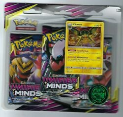 Pokemon Sun amp; Moon Unified Minds 3 Pack Booster Blister Packs Set of 2 $23.99