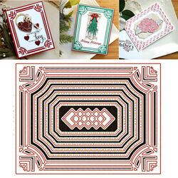 DIY Frame Background Metal Cutting Dies Card Making Album Embossing Cutter Mould $3.29