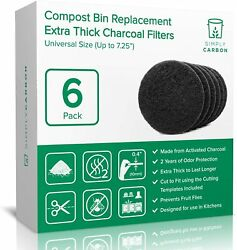 Simply Carbon 2 Years Supply Extra Thick Filters for Kitchen Compost Bins $27.11