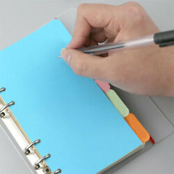 Colorful A5 Index Page Binders Card Paper Tab Dividers Lables Document Organiser $5.49