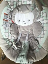 Monkey Deluxe Baby Bouncer Fisher Price Sweet Surroundings w Vibration Melodies $30.00