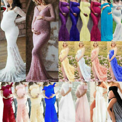 Pregnant Womens Lace Long Maxi Dress Maternity Party Ball Gown Photography Photo $25.54