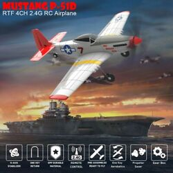 RC Mustang P 51D Ready To Fly 4 Ch RC Plane RC Quadcopter Flight Stabilisation A $88.88