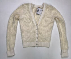 G By Guess Esperanza Party Cardigan Sweater Women's XS Cream Ivory NWT $20.95