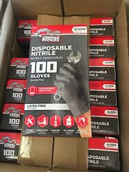 Grease Monkey Black Nitrile Gloves Extra Large XL 100 Pack $24.95