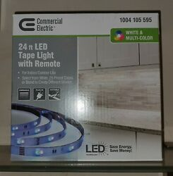 Commercial Electric 24 ft. White + Multicolor IndoorOutdoor LED Tape Light $50.00