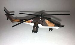 1990 Matchbox # SB.35 Diecast Toy Helicopter 1 76.Mil Mi 24 Hind 0. RARE $34.99