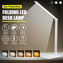 3/5 Modes Dimmable Foldable Touch Timing LED Desk Light Bright USB Reading    $16.98