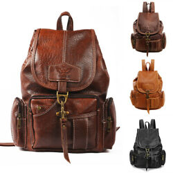 Women PU Leather Backpack Shoulder Satchel Vintage School Travel Bag Rucksack $23.99