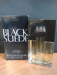 Avon Black Suede Cologne Spray for Men Full Size 3.4 fl oz New in Box $18.48