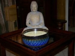 Blue Ceramic 66.95 ounce 5 wick outdoor candle lemongrass and citronella scented $36.95