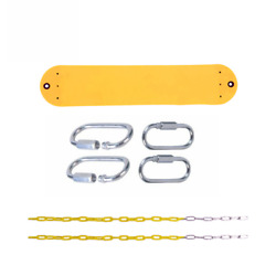 Swing Swing Seat Polymer Belt Seat Yellow With Chains And Hooks Commercial Swing $7.87