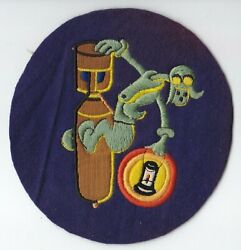 Original WWII AAF 812th Bomb Squadron Jacket Patch - Wool British-made $102.60