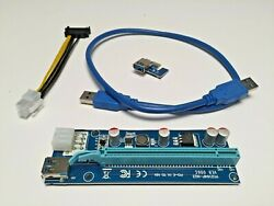6 Pack PCI E 16x to 1x Powered Riser Adapter Card w 50cm USB 3.0 Extension $16.00