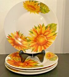 Royal Norfolk~Set 4~Sun flowers~Summer~Salad Plates $34.99