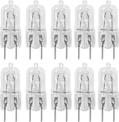 10 Pack G8 20Watt 120V Halogen Light Bulbs T4 JCD Type 120V Bi-Pin Base Shorter  $18.97