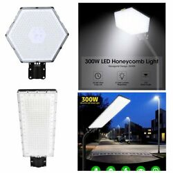 300W 24000LM Commercial Street Light LED Outdoor Garden Yard Road Lamp IP65 US