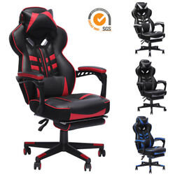 GAMING CHAIR RACING COMPUTER LEATHER HIGH BACK RECLINER OFFICE DESK SWIVEL SEAT $145.99