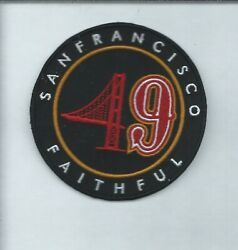 NEW 3 1 2 INCH SAN FRANCISCO 49ERS FAITHFUL IRON ON PATCH FREE SHIP P1 $4.99