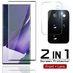 For Galaxy Note 20 Ultra S20 Tempered Glass Screen Protector Camera Lens Cover $10.97