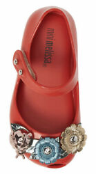 NEW Mini Melissa Mini Ultragirl X Mary Jane Flat Toddler Red Size 5 $29.99