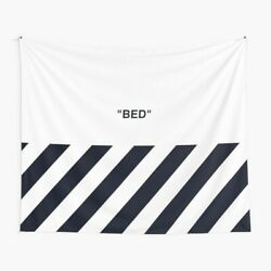 Off White Bed Wall Tapestry Off White Virgil Abloh Wall Tapestry $23.69