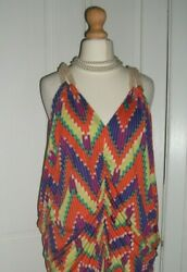 Lovely BAY vintage 1985 chevron jersey rope neck beachholidaysun dress Sz 10. $6.53