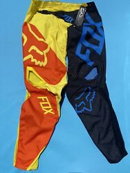 NEW FOX 360 PREME Pants Men's Size 36 Black Yellow Orange Motocross $99.99