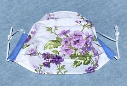 Fabric Face Mask Purple Flowers $6.99