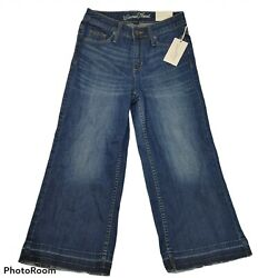 Universal Thread Womens Wide Leg Cropped Jeans Blue High Rise Stretch $9.20