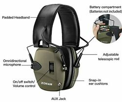 Slim Electronic Ear Muffs For Shooting Range Loud Noise Protection Hearing Gear $30.50