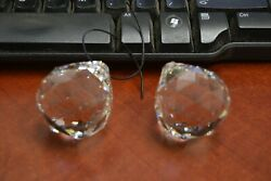 2 PCS ASFOUR CLEAR CRYSTAL CHANDELIER BALL WEDDING SUNCATHER 40MM #T 2782 $10.00