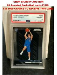 Charity Auction for 20 BK Cards chance for a 2018 Prizm Luka Doncic Psa 10 RC $2.99