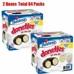 Hostess Mini Powered Donettes and Frosted Chocolate Mini Donettes 32 CT 48 OZ $26.95