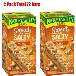 Nature Valley Sweet amp; Salty Nut Peanut Granola Bars 36 ct. Pack of 2 $29.95