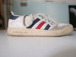 Adidas Vintage Grand Slam White Leather Sneakers US 8 $250.00