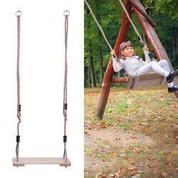 Wooden Swing Kids Seat Swing Rope Tree Fun Outdoor Summer Play 330lbs Capicity $22.88