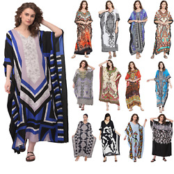 Women#x27;s Summer Boho Casual Long Sundress Maxi Evening Party Kaftan Beach Dress $13.99