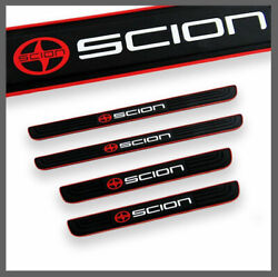 4PCs Red Black Rubber Door Scuff Sill Cover Panel Step Protector For SCION $13.00