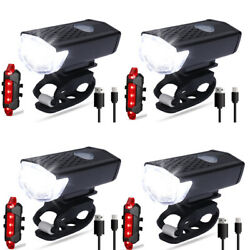 3000 Lumen 8.4V Rechargeable Cycling Light Bicycle Bike LED Front Rear Lamp Sets $25.99