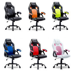 ERGONOMIC GAMING RACING CHAIR COMPUTER DESK SWIVEL OFFICE EXECUTIVE PU LEATHER $112.79