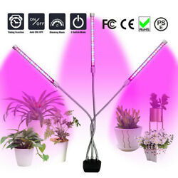 3 Head LED Plant Grow Lights Flower Indoor Greenhouse Hydroponic Lamp Gardening $18.99