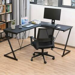 Computer Gaming Office Home Desk L Shaped Workstation Laptop Metal Table Black $115.99